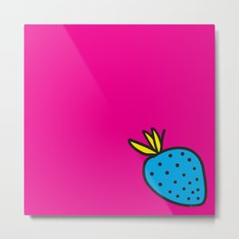 Strawberrious - Cyan/MAGENTA Metal Print