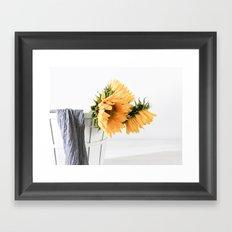 Sunfower Basket Framed Art Print