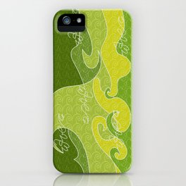 Waves V green colors V iphone iPhone Case