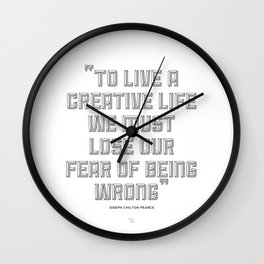 To Live a Creative Life Wall Clock