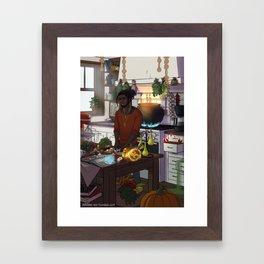 Modern Male Witch Kitchen Framed Art Print