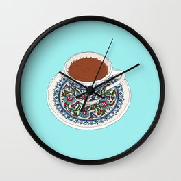 Turkish Coffee Wall Clock