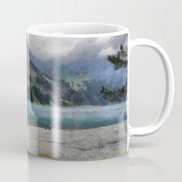 The Beautiful lake Oeschinensee in Kandersteg Switzerland Coffee Mug