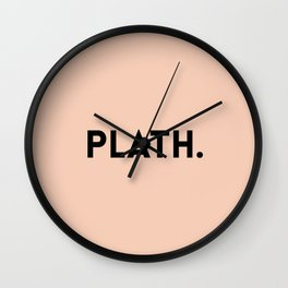 Sylvia Plath Wall Clock