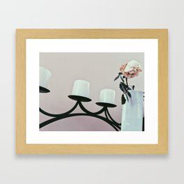 Withering Rose Framed Art Print