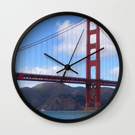 Golden Gate Bridge San Francisco Ca Wall Clock