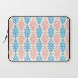 Pastel pink blue vintage chic floral damask pattern Laptop Sleeve