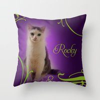 rocky Throw Pillows featuring Rocky by Flavia Jurca