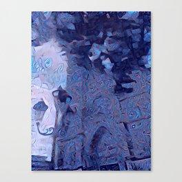 Mandalic Swirls Church More Blue Canvas Print