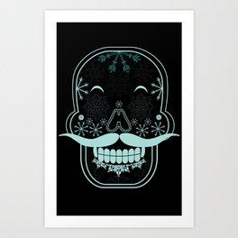 SnowSkull Art Print