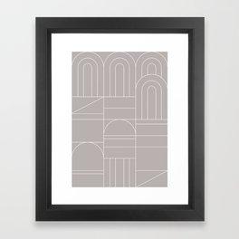 Deco Geometric 04 Grey Framed Art Print
