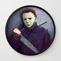 michael scott Wall Clocks featuring Michael  by naidl