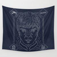 luke hemmings Wall Tapestries featuring Luke by Jon Deviny