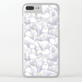 Mountain Goats on Mountains Clear iPhone Case