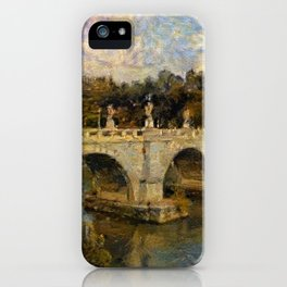 French Impressionistic Arched Bridge iPhone Case