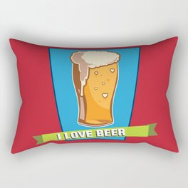 For the Love of Beer Rectangular Pillow