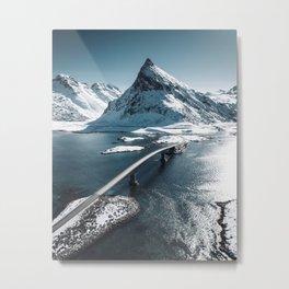 lofoten bridge Metal Print