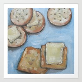 cheese and crackers Art Print