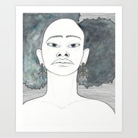 afro Art Prints featuring Afro by Julia Wald