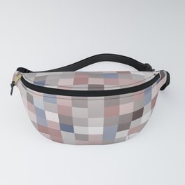 pixels seamless pattern with colorful squares Brown and gray Fanny Pack