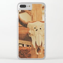 Cowboy Ranch Clear iPhone Case