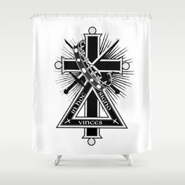 Masonic cross Shower Curtain