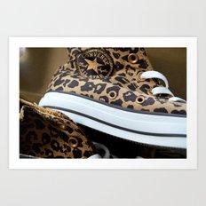Converse leopard All Stars Art Print