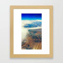 Somewhere Over the Desert Framed Art Print