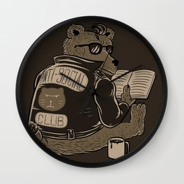 Anti Social Club Wall Clock