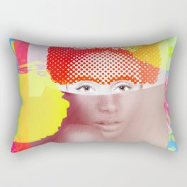 Sitted Woman with Flowers Rectangular Pillow