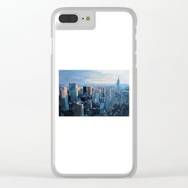 New York City - Manhattan Skyline in Warm Sunlight Clear iPhone Case