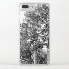 Minimal Forest Treescape - Nature Photography Clear iPhone Case