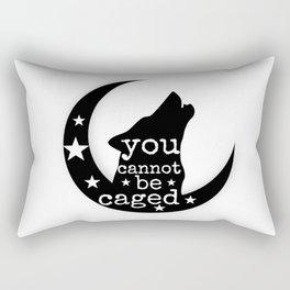 You Cannot Be Caged Rectangular Pillow