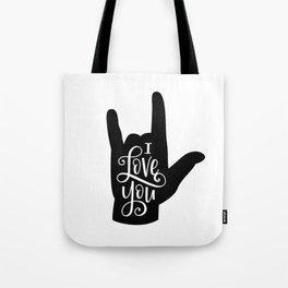 I Love You, Sign Language Tote Bag