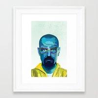 heisenberg Framed Art Prints featuring Heisenberg by Ned & Ems