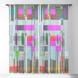 code life Sheer Curtain