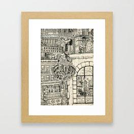 Fuzz Framed Art Print