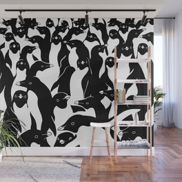 meanwhile penguins Wall Mural