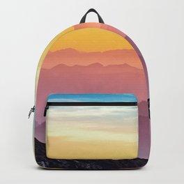 sky blue yellow orange purple Backpack