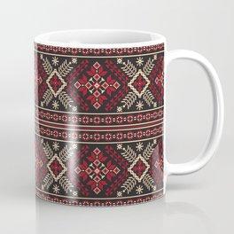 Ukrainian Folk Pattern in Red Coffee Mug