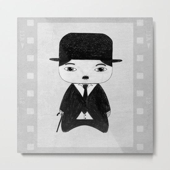 A Boy - Charlie Chaplin (B&W) Metal Print