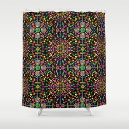 Candy Kaleidoscope Shower Curtain