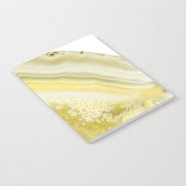 Lemon Twist Agate Dream #1 #gem #decor #art #society6 Notebook