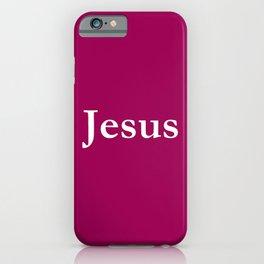 Jesus 7 purple iPhone Case