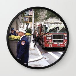 The Fire Dept of New York at 30 Rock Wall Clock