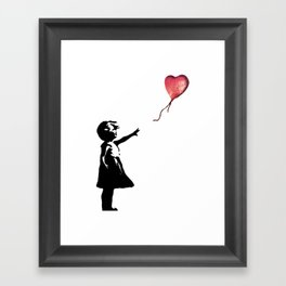 Banksy cosmic balloon Framed Art Print