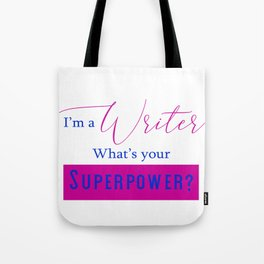 Writer Superpower Tote Bag