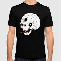 Drippy Space Skull Black Mens Fitted Tee SMALL