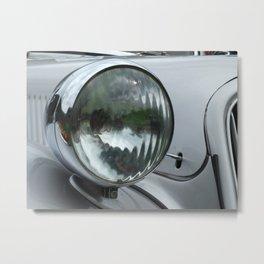 vintage silver auto Metal Print
