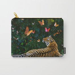 Tiger's Butterfly Friends Carry-All Pouch